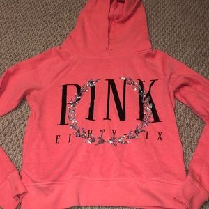 Neon Pink Victoria Secret Hoodie, size Small